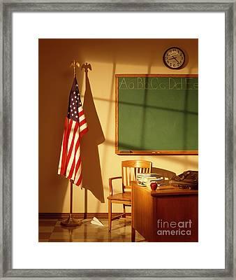 Classroom Framed Print by Tony Cordoza