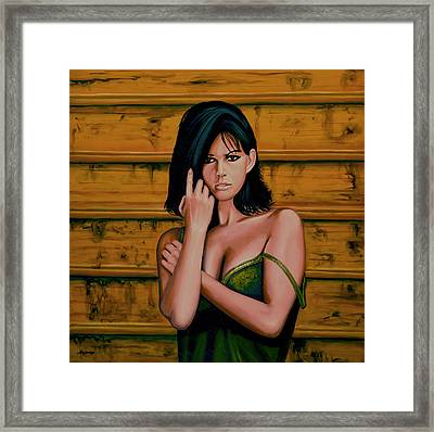 Claudia Cardinale Painting Framed Print by Paul Meijering