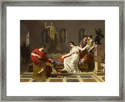 Cleopatra And Octavian Framed Print by Mountain Dreams