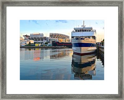 Cleveland Harbor Framed Print by Frozen in Time Fine Art Photography