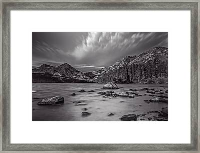 Cloud Movement Over Emerald Bay Framed Print by Marc Crumpler