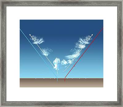 Cloud Types Framed Print by Mikkel Juul Jensen