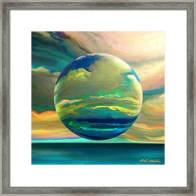 Clouding The Poets Eye Framed Print by Robin Moline