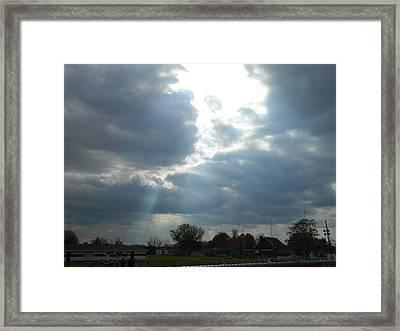 Cloudy Sky Framed Print by Linda Brown