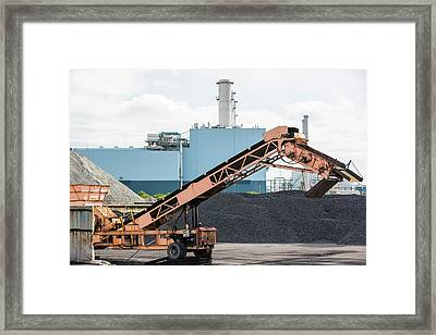 Coal On The Docks In Hull Framed Print by Ashley Cooper
