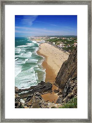 Coastal Cliffs Framed Print by Carlos Caetano