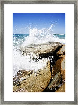 Coastal Collision Framed Print by Jorgo Photography - Wall Art Gallery