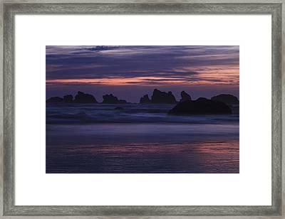 Coastal Reflections Framed Print by Andrew Soundarajan