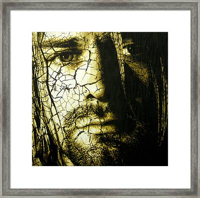 Cobain - You Know You're Right  Framed Print by Bobby Zeik
