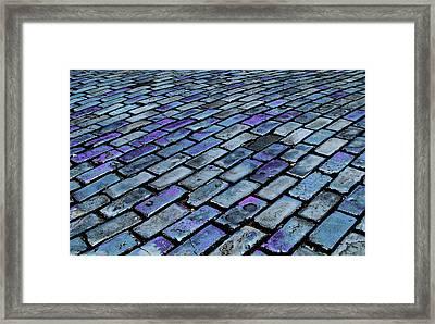 Cobblestones From Ship's Ballast Or Framed Print by Miva Stock