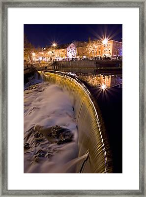 Cocheco River Falls Dover Nh Framed Print by Jeff Sinon