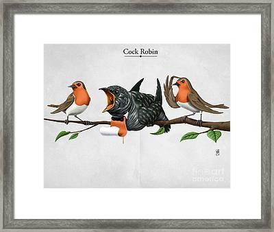 Cock Robin Framed Print by Rob Snow