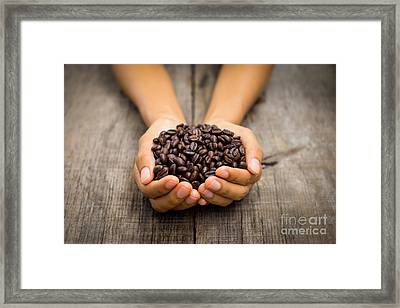 Coffee Beans Framed Print by Aged Pixel
