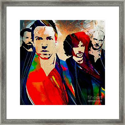 Coldplay Collection Framed Print by Marvin Blaine