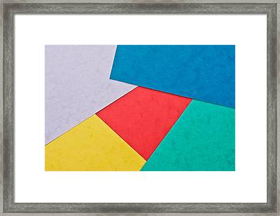 Colorful Card Framed Print by Tom Gowanlock