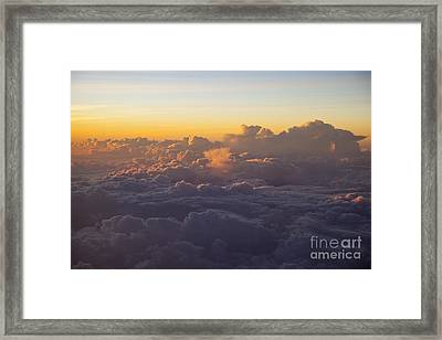 Colorful Clouds Framed Print by Brian Jannsen