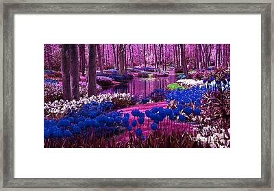 Colorful Flower Garden Framed Print by Marvin Blaine