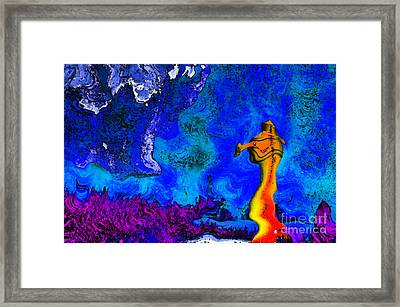 Colorful Fontain Framed Print by Odon Czintos