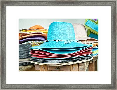 Colorful Hats Framed Print by Tom Gowanlock