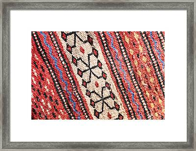 Colorful Rug Framed Print by Tom Gowanlock