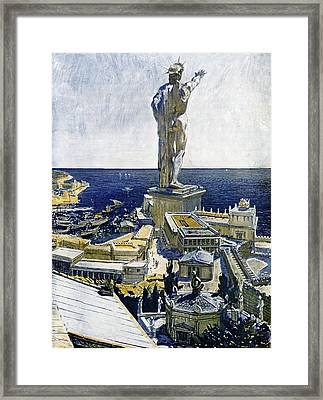 Colossus Of Rhodes Framed Print by Cci Archives