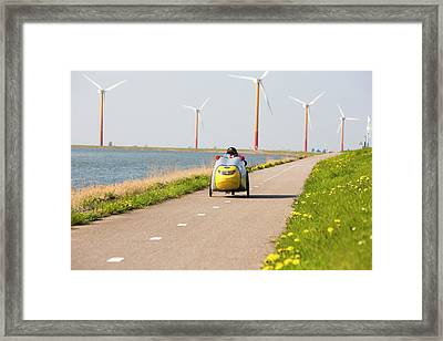 Colourful Wind Turbines Framed Print by Ashley Cooper
