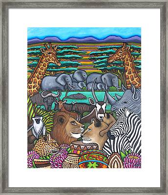Colours Of Africa Framed Print by Lisa  Lorenz