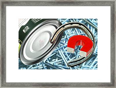 Common Ferrous Metal Objects Framed Print by Martyn F. Chillmaid