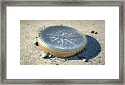 Compass In The Desert Framed Print by Allan Swart