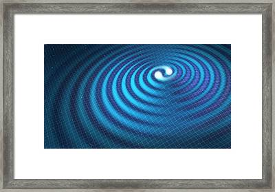 Conceptual Image Of Gravitational Waves Framed Print by Mark Garlick