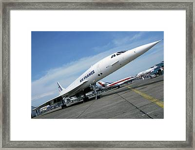 Concorde At An Air Show Framed Print by Epp/reporters