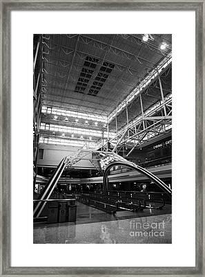 concourse B at Denver International Airport Colorado USA Framed Print by Joe Fox