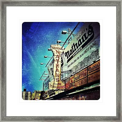 Coney Island Grub Framed Print by Natasha Marco