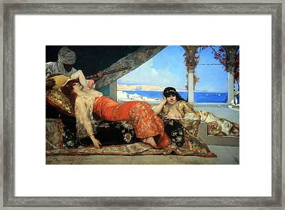 Constant's The Favorite Of The Emir Framed Print by Cora Wandel