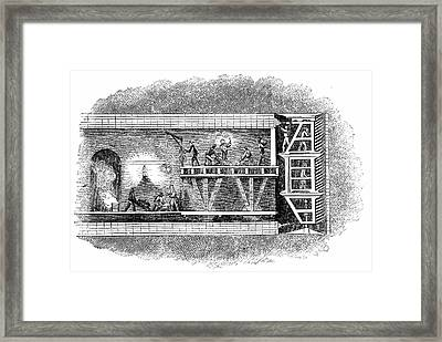 Construction Of Thames Tunnel Framed Print by Universal History Archive/uig