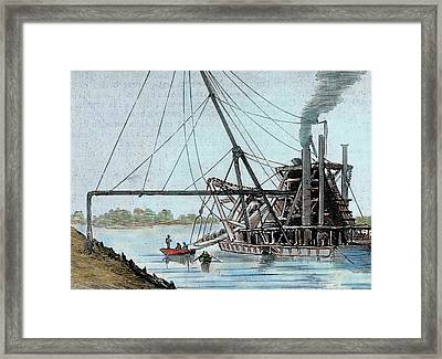 Construction Of The Panama Canal Framed Print by Prisma Archivo