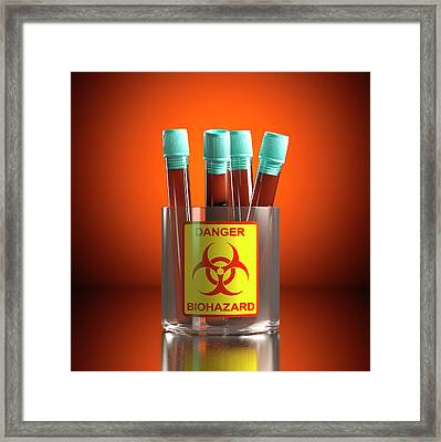 Contaminated Blood Framed Print by Ktsdesign