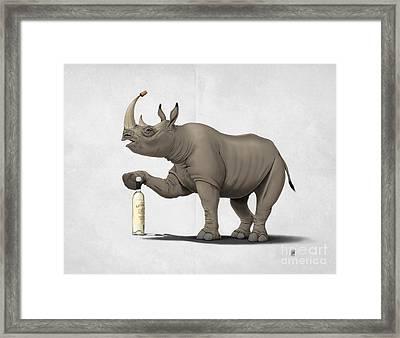 Cork It Durer Wordless Framed Print by Rob Snow