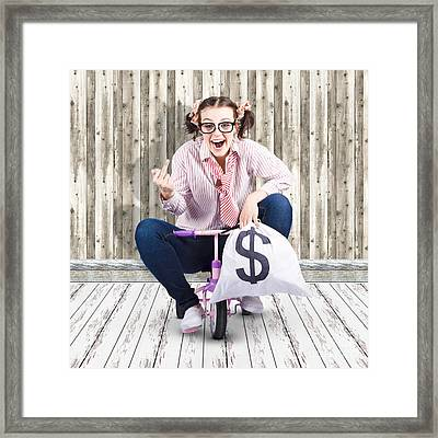 Corrupt Business Thief In A Smart Stealing Scam Framed Print by Jorgo Photography - Wall Art Gallery