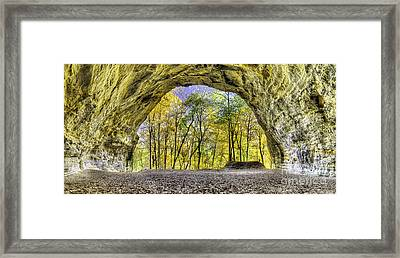 Council Overhang At Starved Rock Framed Print by Twenty Two North Photography
