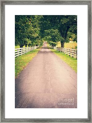 Country Back Roads Framed Print by Edward Fielding