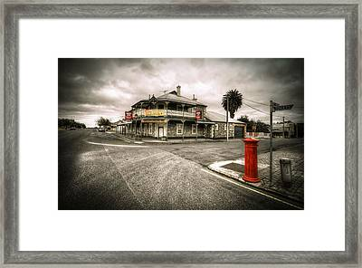 Country Town Framed Print by Wayne Sherriff