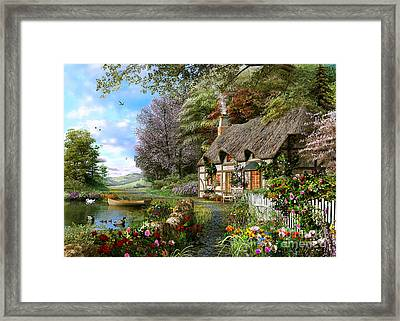 Countryside Cottage Framed Print by Dominic Davison