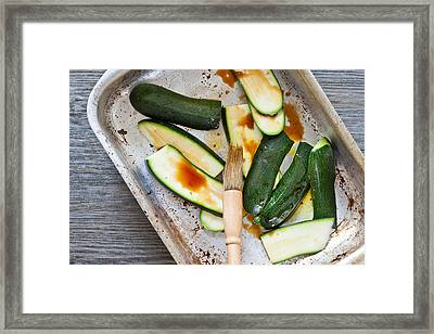 Courgettes Framed Print by Tom Gowanlock