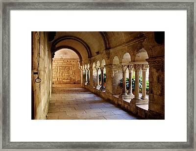 Courtyard Of St Paul De Mausole, Asylum Framed Print by Brian Jannsen