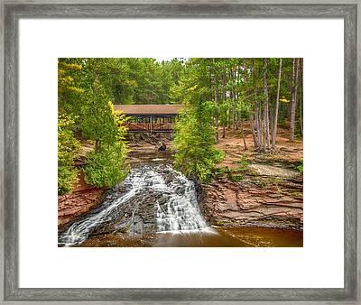 Covered Bridge Framed Print by Paul Freidlund