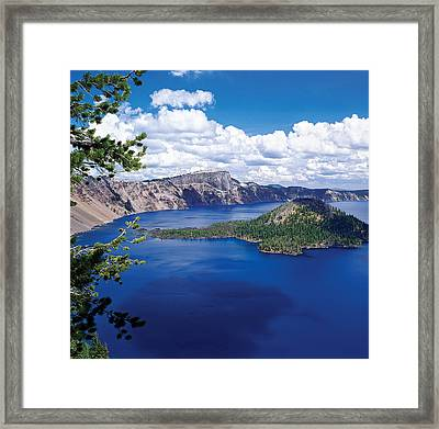 Crater Lake At Crater Lake National Framed Print by Panoramic Images