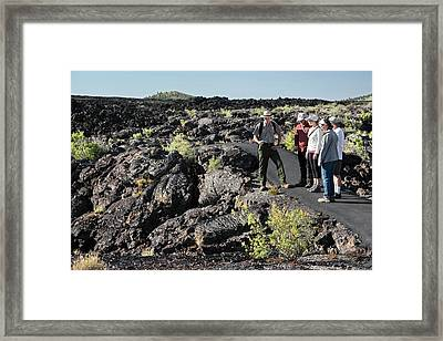 Craters Of The Moon Walking Tour Framed Print by Jim West