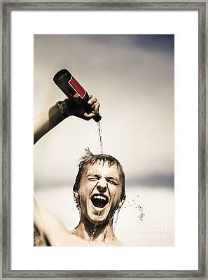 Crazy Young Irish Man Celebrating St Patricks Day  Framed Print by Jorgo Photography - Wall Art Gallery