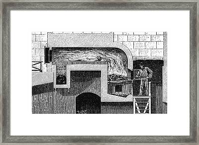 Cremation Furnace Framed Print by Universal History Archive/uig